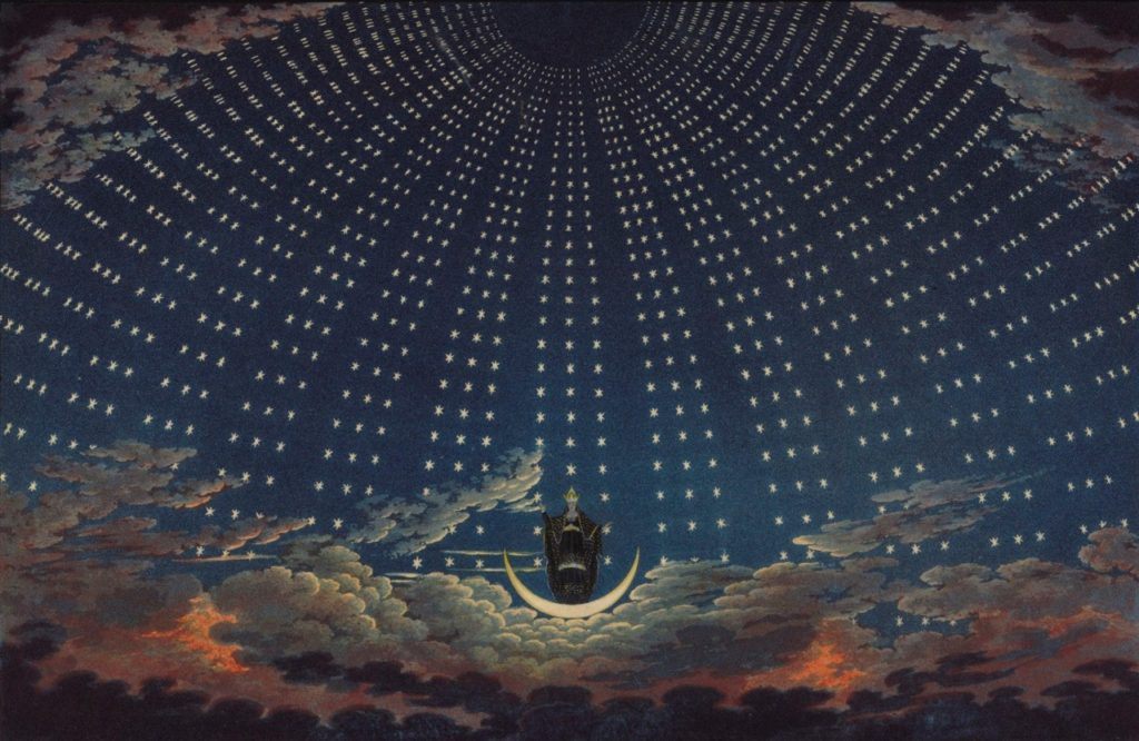 c okiorina │Karl Friedrich Schinkel 'The Hall of Stars of the Queen of the Night'